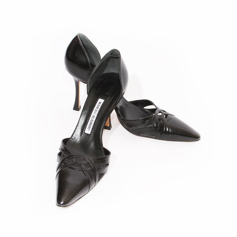 Manolo D'orsay Leather Heel