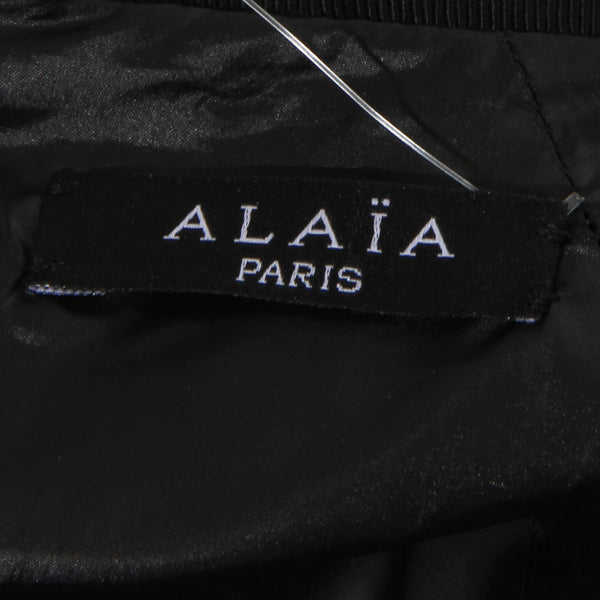 Alaia Grommet Leather Skirt