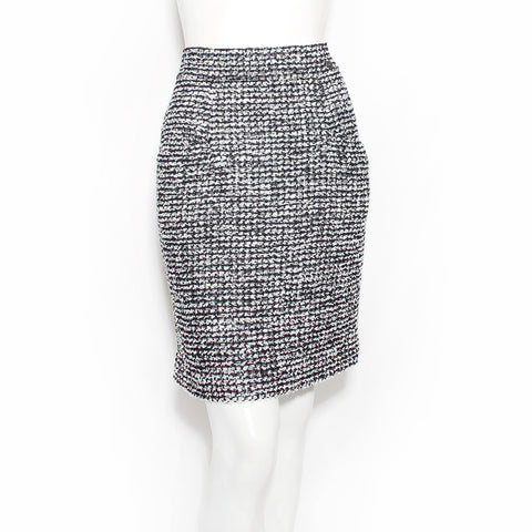 Chanel Tweed Silk Skirt