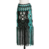 Crochet Skirt with Fringe