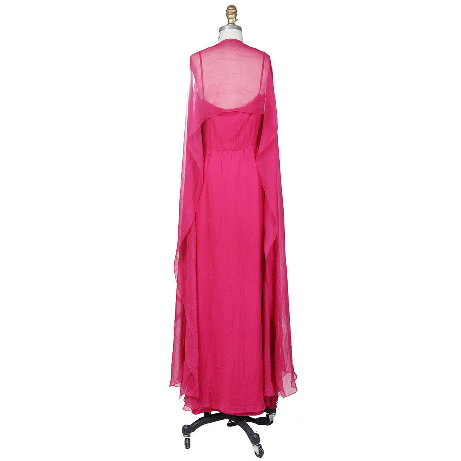 Flowing Chiffon Poncho Dress