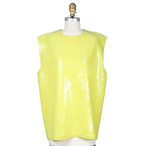 Translucent Paillette Adorned Sleeveless Top 1988