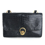 Ring Croc Piano Clutch with Extended Handle