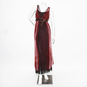 Rozae Nichols Watercolor Dress With Belt