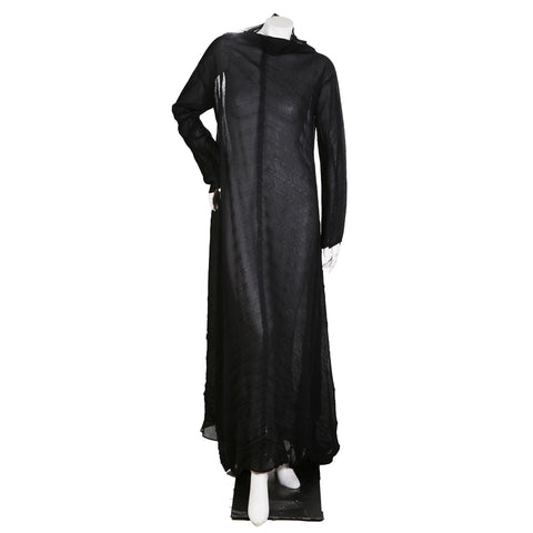 Vintage Black Pleats Please Long Dress