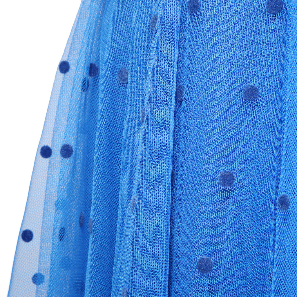 Polka Dot Tulle Dress with Matching Scarf circa 1970s