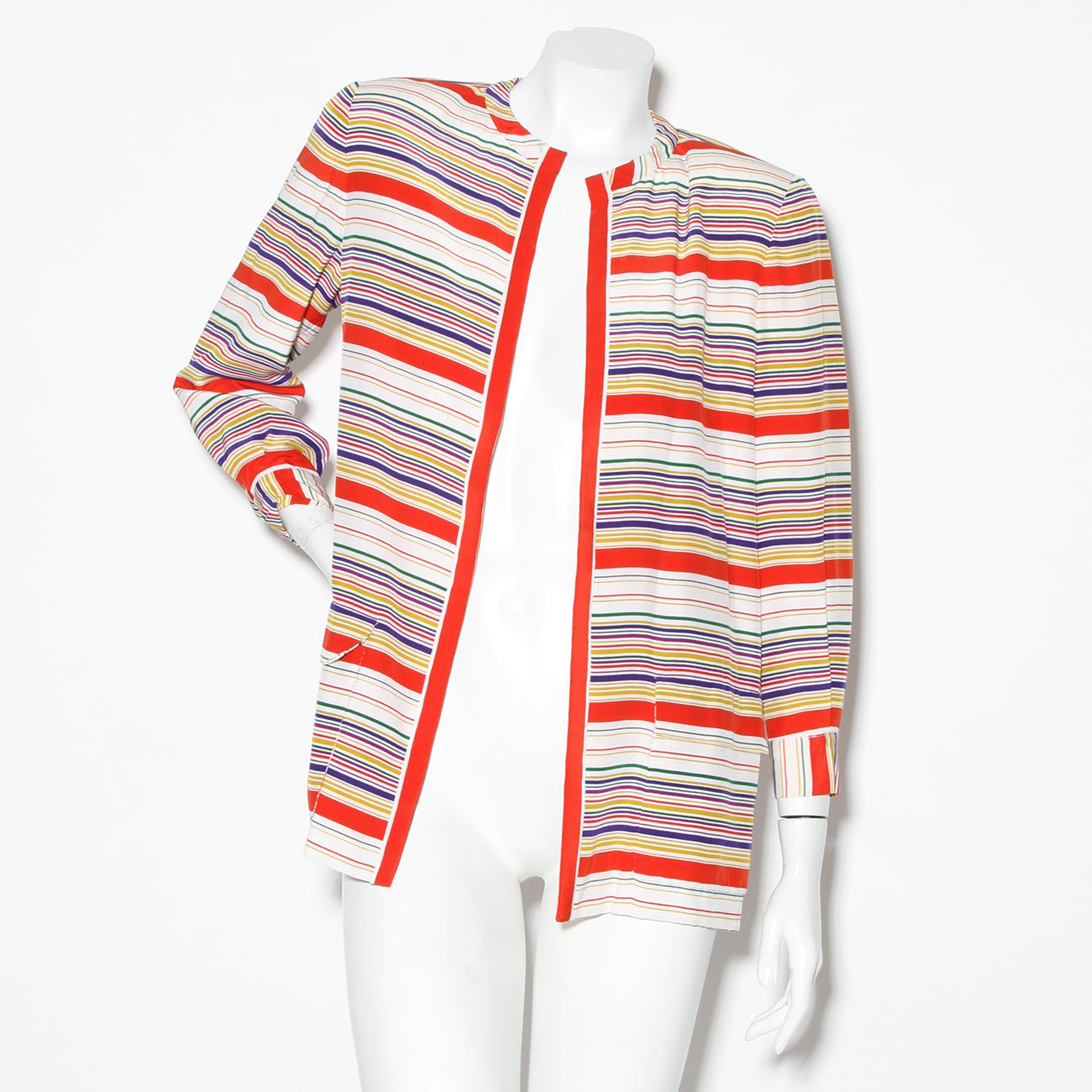 Bill Blass Silk Stripe Jacket