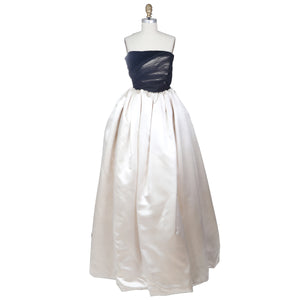 Vintage Strapless Ball Gown