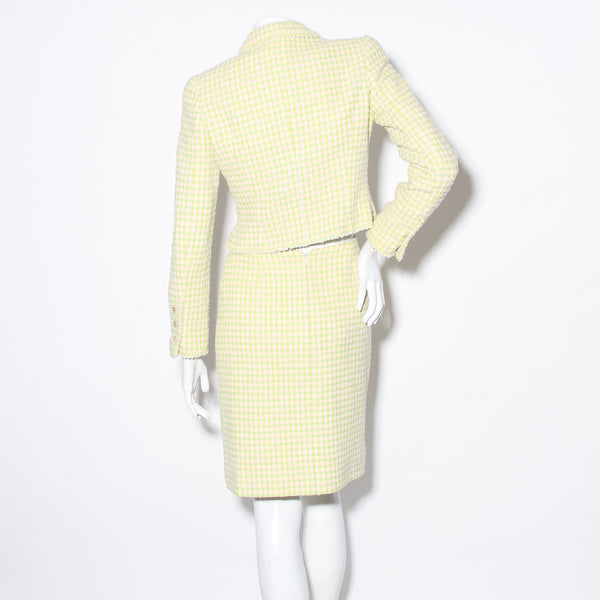 Chanel Houndstooth Skirt Suit