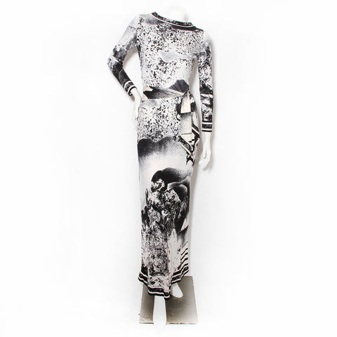 Leonard Abstract Print Dress
