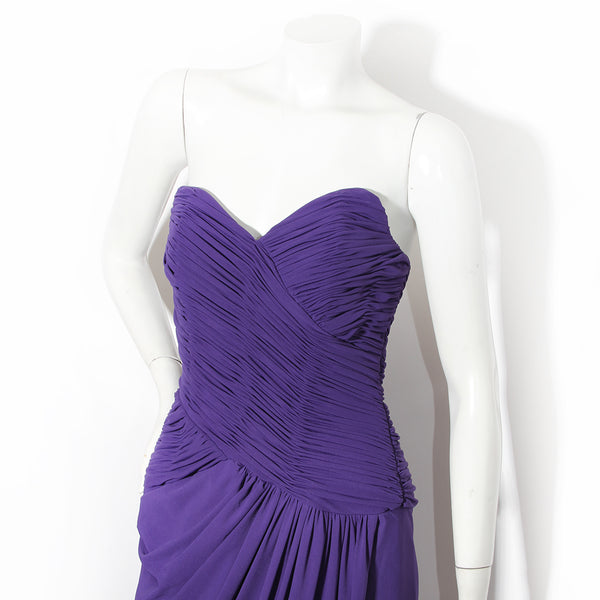 Victor Costa Ruched Gown