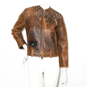Louis Vuitton Studded Leather Jacket