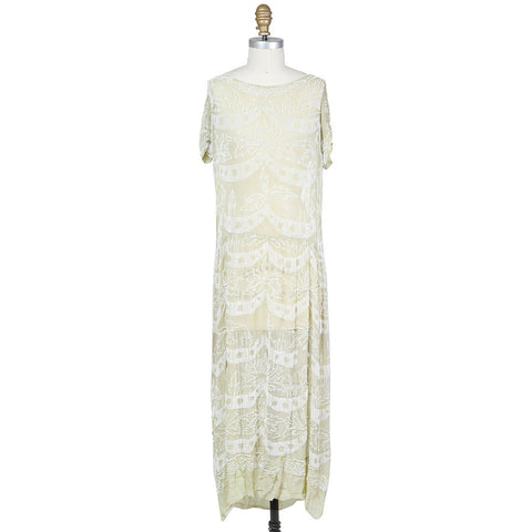 Beaded Chiffon Dress from the 1930s