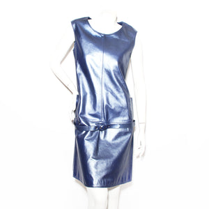 Ungaro Metallic Leather Dress