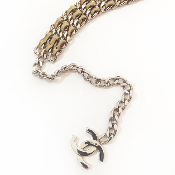Chanel Interwoven Leather Chain Belt