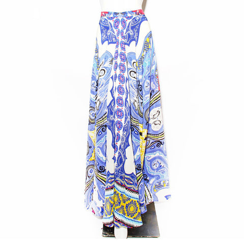 Etro Multi Print Silk Maxi Skirt