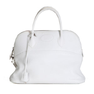 White Leather Bolide Tote, 2003