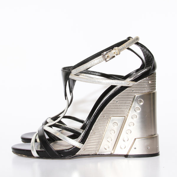 Prada Metal Wedge
