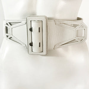 Jean Paul Gaultier Vinyl Inlay Laser-Cut Belt