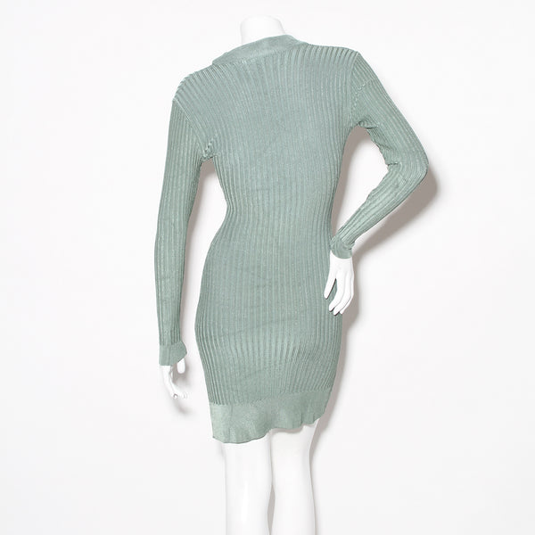 Alaia Vintage Ribbed Long Sleeve Dress