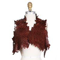 Brown Leather Reptilian Scales Vest