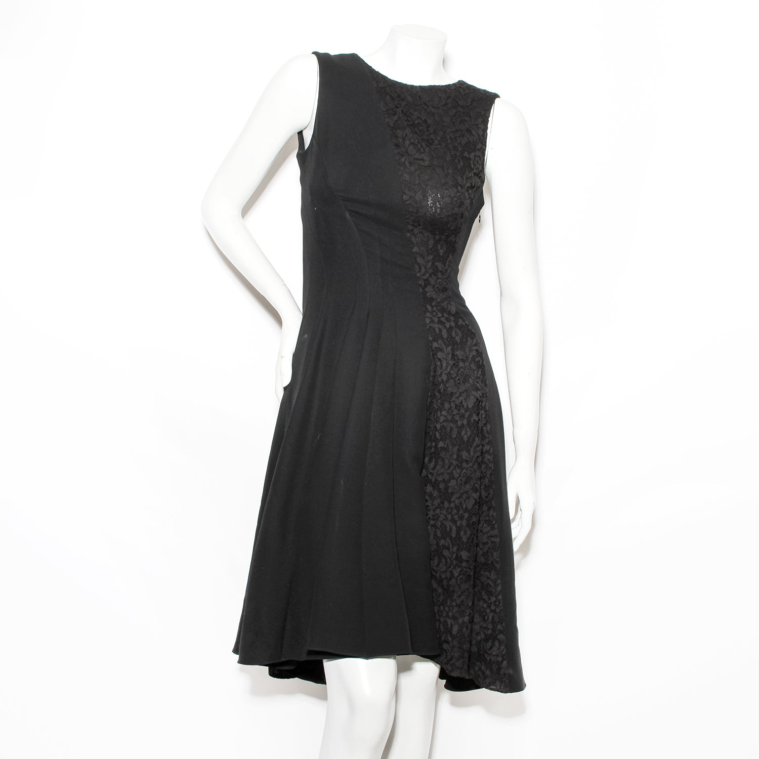 Dior with Lace Detail Silk Dress