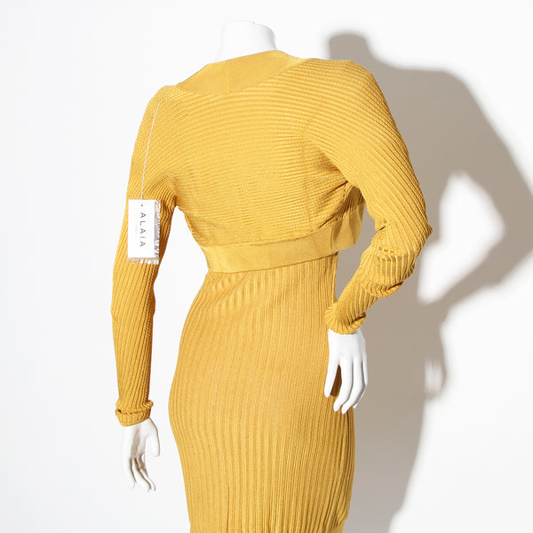Alaia Vintage Ribbed Dress with Sweater