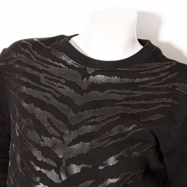 Saint Laurent Leather Tiger Sweatshirt