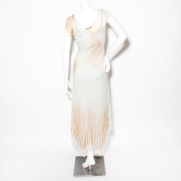 Rozae Nichols Bias Chiffon Stripped Dress