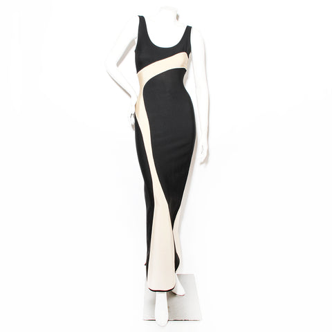 Herve Leger Wave Motif Dress
