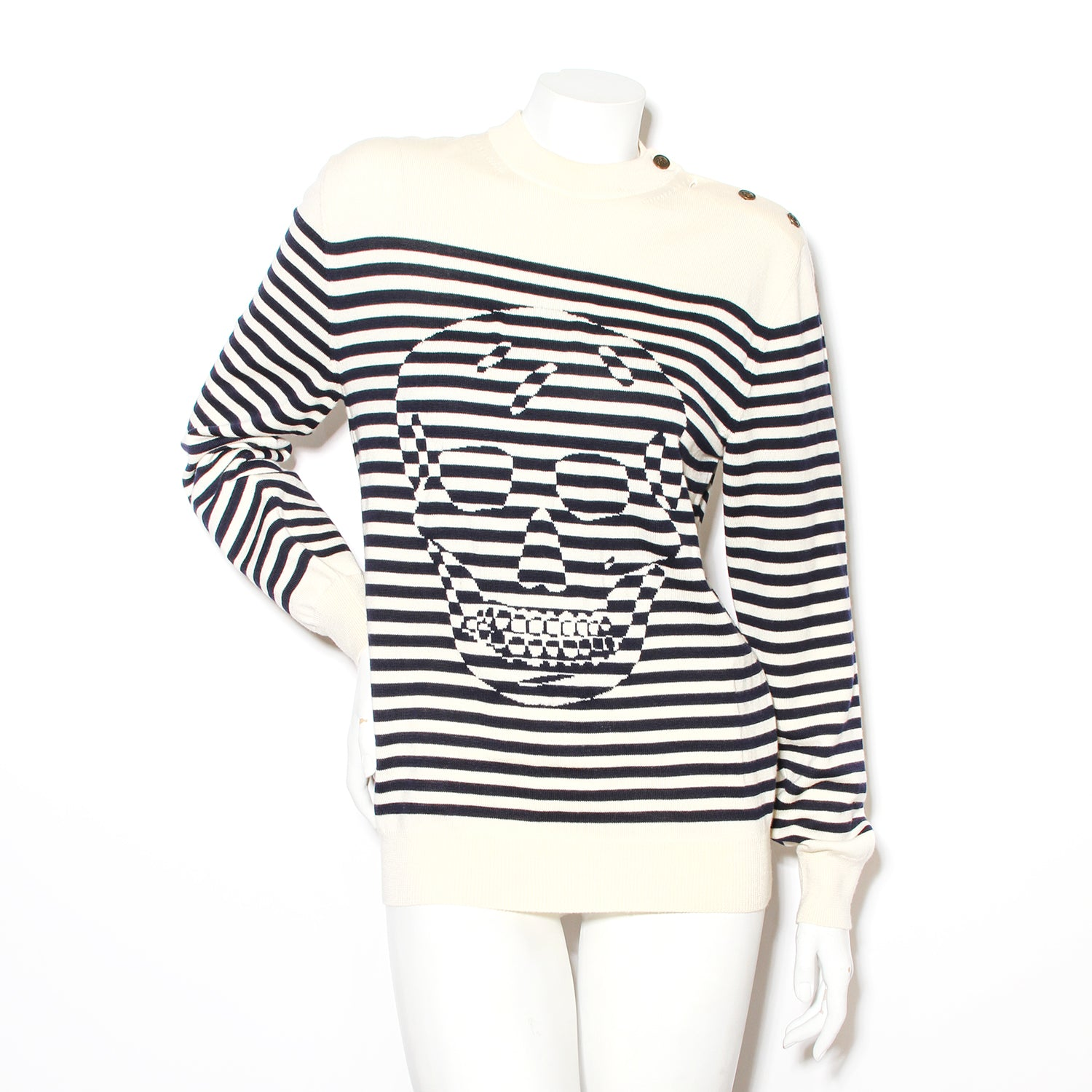 McQueen Skull Stripe Sweater