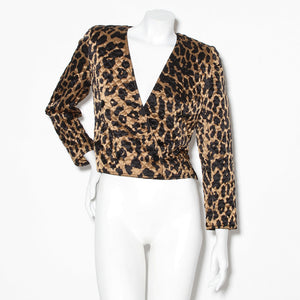 Valentino Leopard Quilted Jacket
