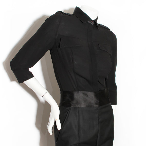 McQueen Satin Detail Jumpsuit