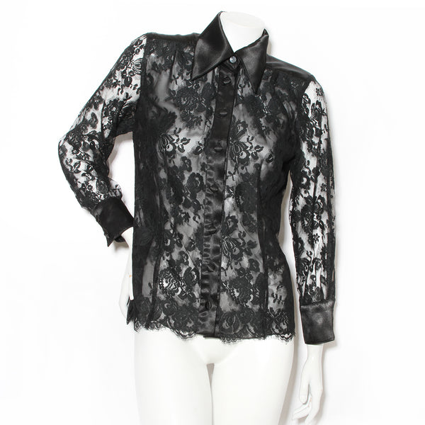 Lacroix Lace Button Up Blouse