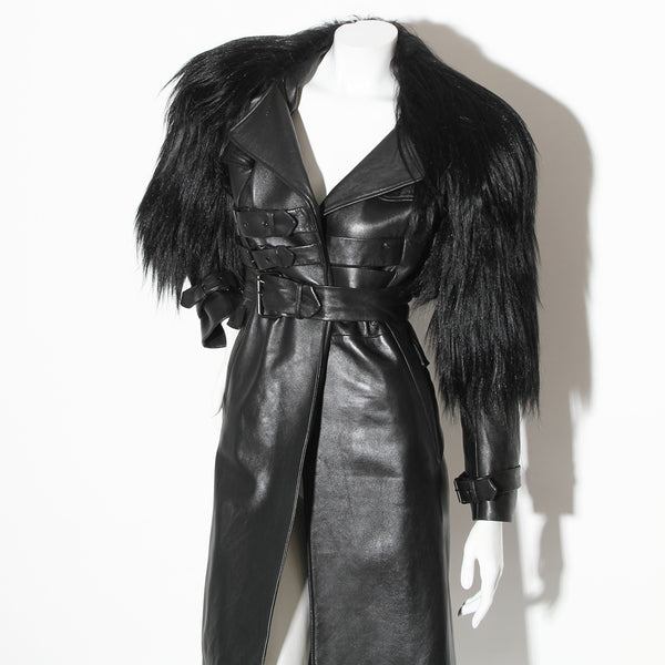 Altuzarra Leather Trench