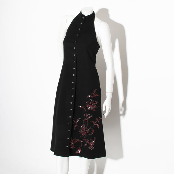 McQueen Wool Beaded Dress