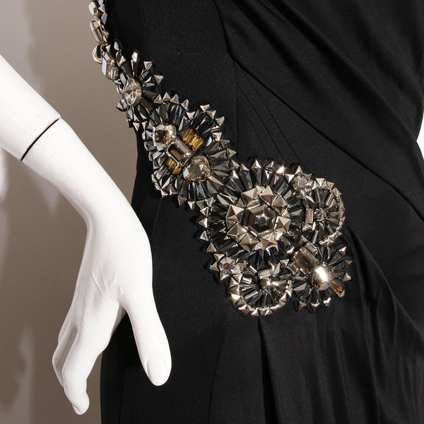 Gucci Embellished Strapless Gown