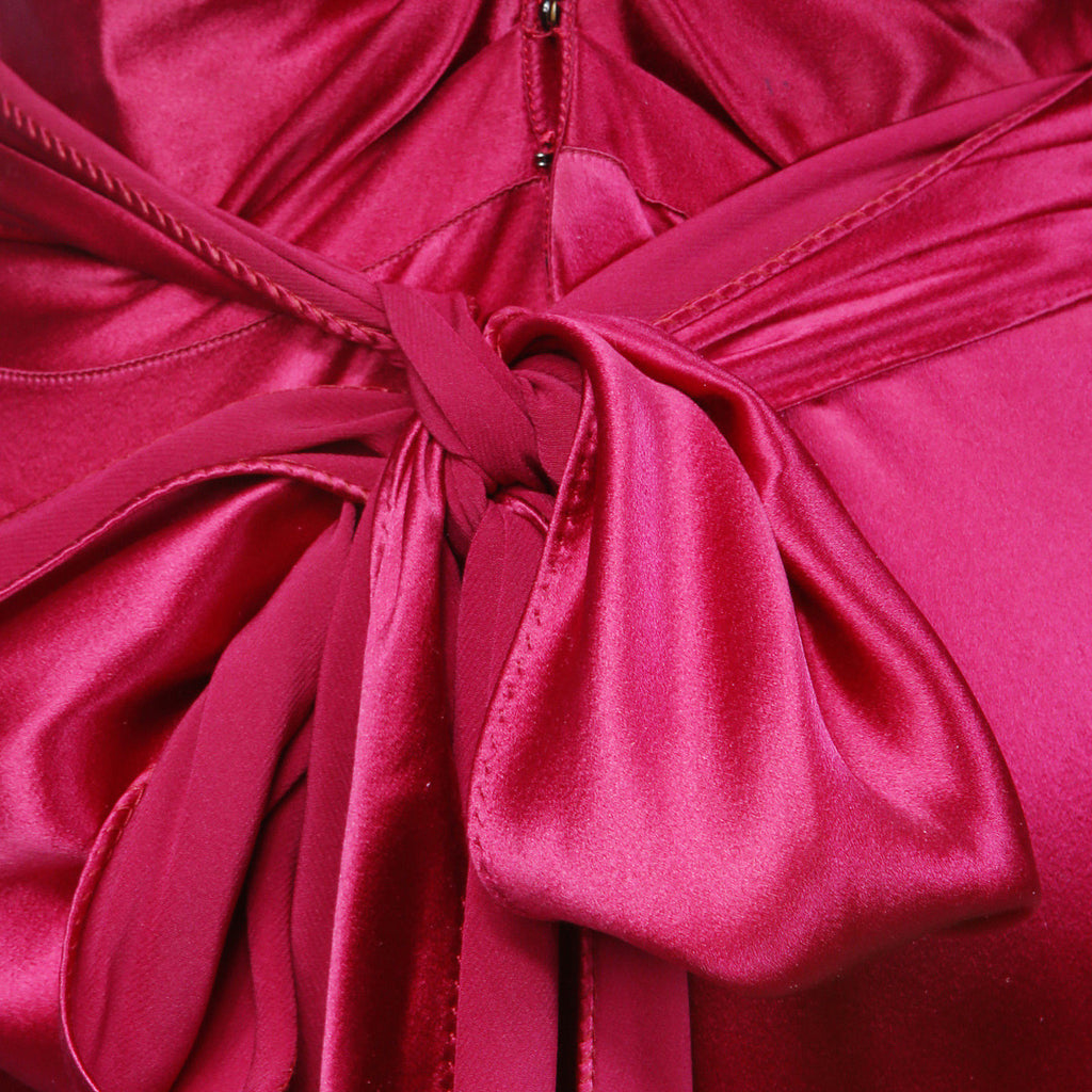 Raspberry Silk Bias Cut Gown Circa 1930's