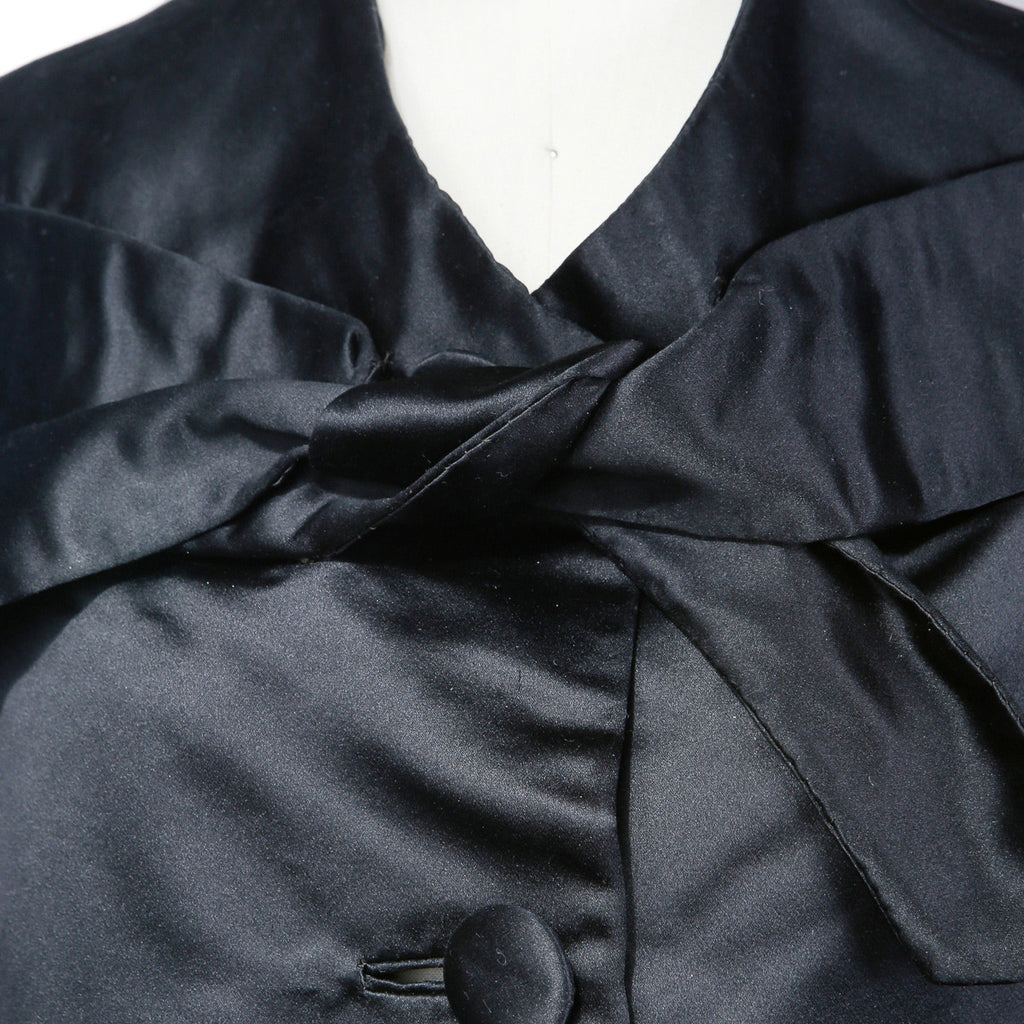 Oversized Silk Satin Evening Coat circa 1950s