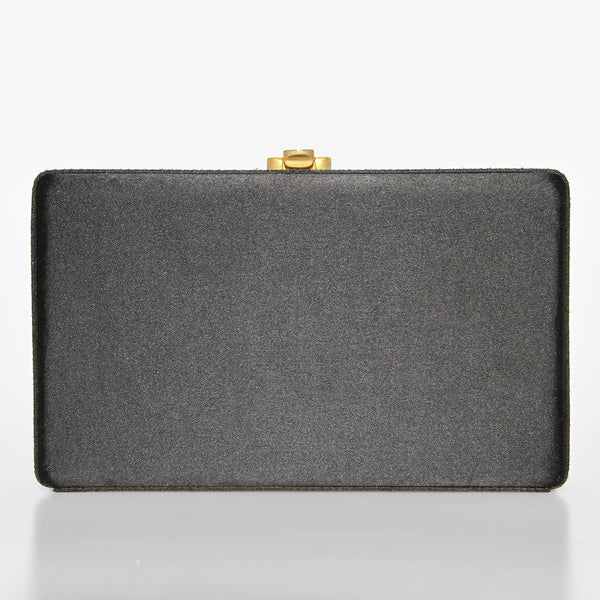 Fendi Gold Closure Box Clutch