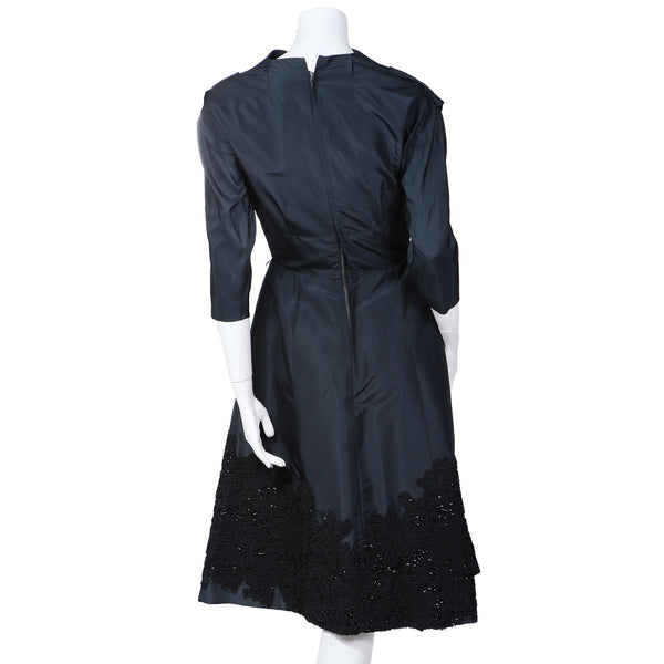Cocktail Dress with Lace and Sequin Detail circa 1950s