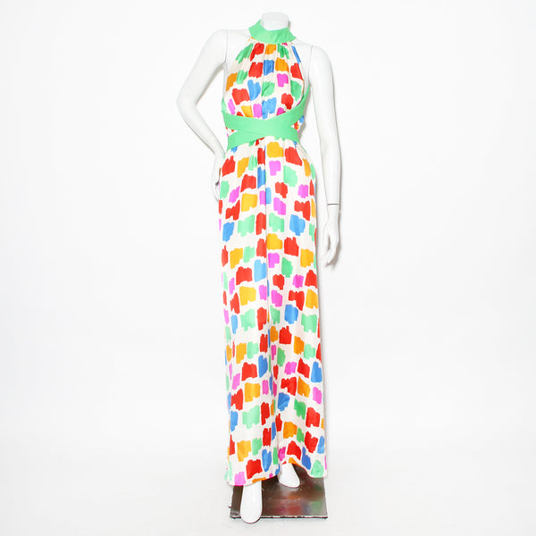 Cardin Vintage Spotted Silk Gown