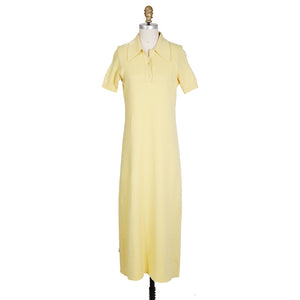 Vintage Light Yellow Cashmere Polo Dress