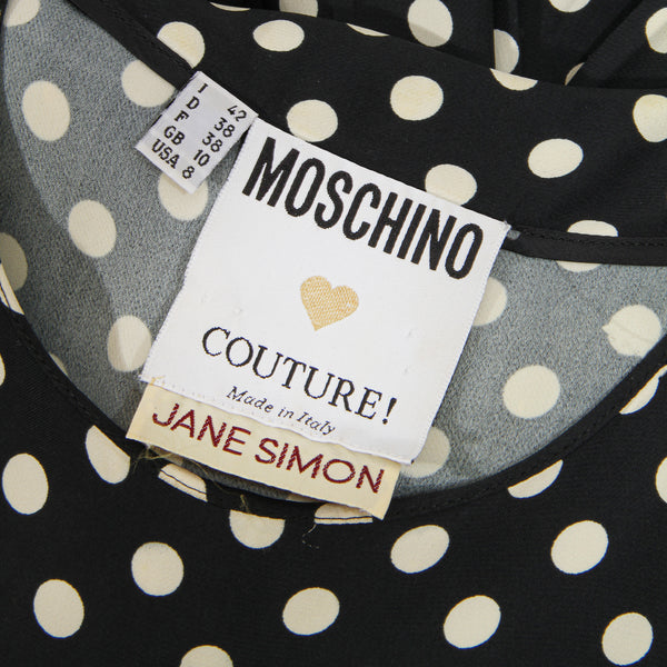 Vintage Moschino Dot and Stripe Dress