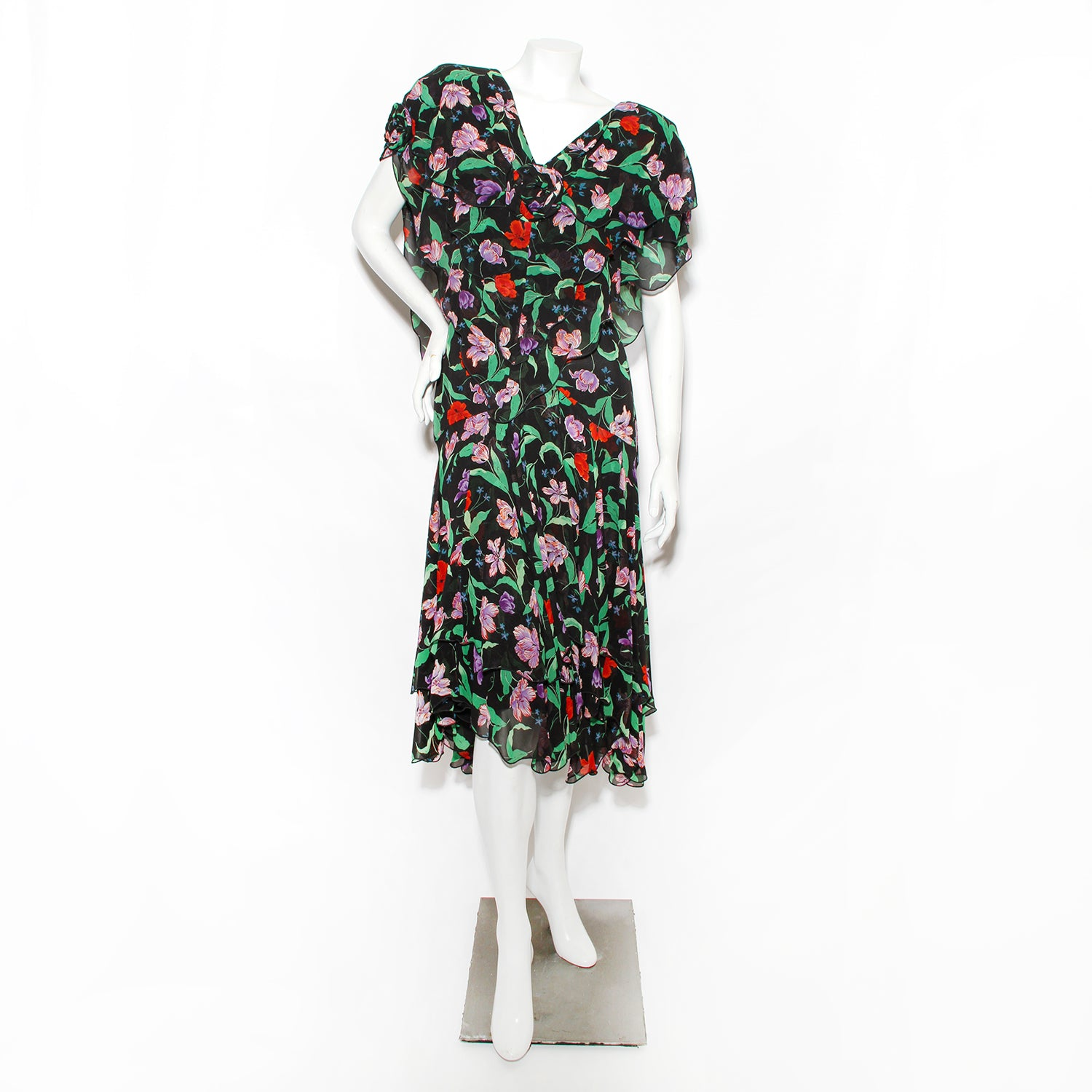 Holly's Harp Floral Silk Dress