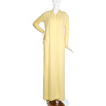 Vintage Light Yellow Cashmere Dress with Matching Long Cardigan