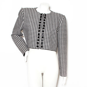 Valentino Houndstooth Crop Jacket