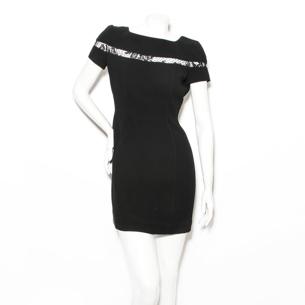 Mugler Black Mini Dress