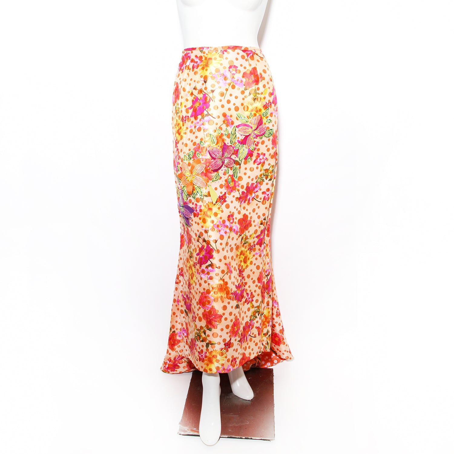 Vintage Anonymous Floral Embellished Skirt