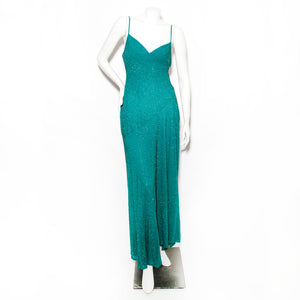 Vintage Beaded Slip Dress